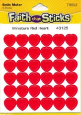 Stickers: Miniature Red Heart