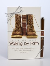 Man Of God, Walking By Faith Devotional and Pen Gift Set