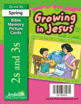 Growing in Jesus (ages 2 & 3) Bible Memory Picture Cards