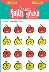 Happy Apples Stickers, 6 sheets