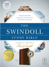 The NLT Swindoll Study Bible, Soft Imitation Leather, Brown/Tan Index