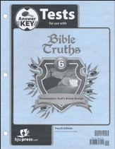 Bible Truths 6 Tests Answer Key (4th Edition)