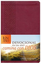 Devocional en un Año Camina con Dios, SentiPiel  (One Year Walk With God Devotional, Leatherlike)