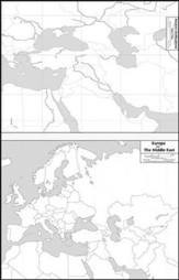 Ancient Civilizations/Europe and the Middle East Laminated Mark-It Map
