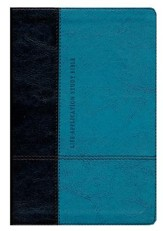 NLT Life Application Study Bible, Personal Size TuTone Imitation Leather, dark brown/teal Indexed