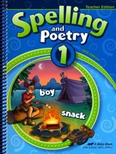 Abeka Spelling and Poetry 1 Teacher  Edition (New Edition)