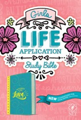 NLT Girls Life Application Study Bible--imitation leather, teal/yellow
