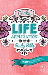 NLT Girls Life Application Study Bible, Softcover - Slightly Imperfect