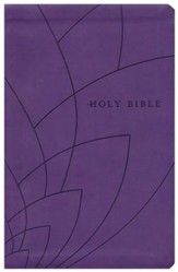 NLT Premium Gift Bible Imitation Leather, purple petals