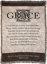 For it is By Grace Throw