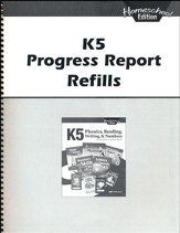 Abeka K5 Homeschool Progress Report Refills
