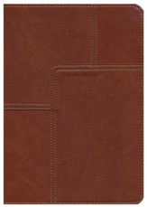 NLT Life Application Study Bible, soft imitation leather, midtown brown - Slightly Imperfect