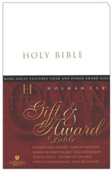 HCSB Gift and Award Bible, Imitation Leather, White