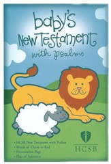 HCSB Baby's New Testament with Psalms - White