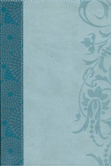HCSB The Study Bible for Women, Teal and Aqua LeatherTouch, Thumb-Indexed - Imperfectly Imprinted Bibles