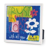 Trust in the Lord Plaque, Bold