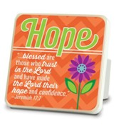 Hope, Flower Tabletop Plaque