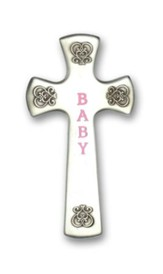 Wall Cross, Baby, Pink