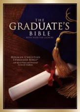 HCSB Graduate's Bible - Burgundy Bonded Leather  With Slide Tab Closure