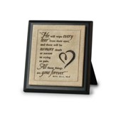 No More Tears Plaque, Black
