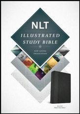 NLT Illustrated Study Bible--soft leather-look, black