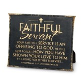 Faithful Servant Plaque, Black