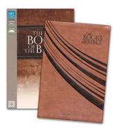 The Books of the Bible, NIV, Italian Duo-Tone, Brown - Slightly Imperfect