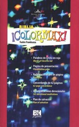 Biblia ¡Colormax! RVR 1960, Fusión Frambuesa  (RVR 1960 Colormax! Youth Bible, Hot Pink)