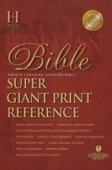 HCSB Super Giant Print Reference Bible, Imitation Leather, burgundy Thumb-Indexed