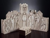 Pillar Cathedral Nativity Set, 8 pieces