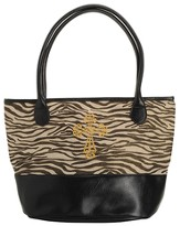 Zebra Tote Bag with Cross