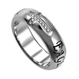 Eagles Wings Reflection Women's Ring , Size 8 (Isaiah 40:31)