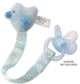 Heaven Sent, Bird Pacifier Clip, Blue