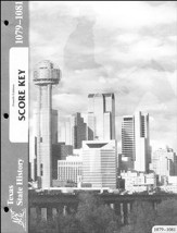 4th Edition Texas History Score Key 1079-1081