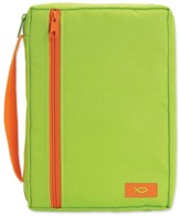 Neon Shades Canvas Bible Cover, Green, X-Large