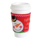 Happy, Jolly Soul (Psalm 31:7), Embroidered Felt Cup Cozy
