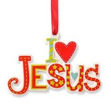 I Love Jesus, Hanging Ornament