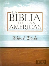 LBLA Biblia de Estudio, LBLA Study Bible, Black Bonded  Leather, Thumb-Indexed