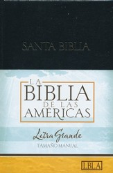 LBLA Biblia Letra Grande Tamano Manual, LBLA Hand Size Giant  Print Bible, Thumb-Indexed,