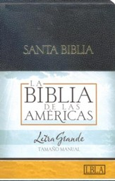 LBLA Biblia Letra Grande Tamano Manual, LBLA Hand Size Giant Print Bible, Black Imitation Leather,
