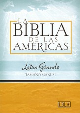 LBLA Biblia Letra Grande Tamano Manual, LBLA Hand Size Giant Print Bible, Black Bonded Leather