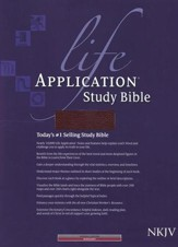 NKJV Life Application Study Bible, Bonded leather,   Burgundy, Thumb Indexed - Imperfectly Imprinted Bibles