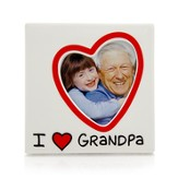 I Heart Grandpa Photo Frame