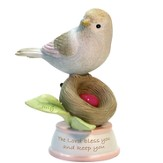 Birthstone Bird Figure, The Lord Bless and Keep You, July