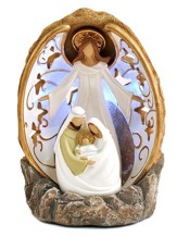 Rock Of Ages Lighted Nativity Figure