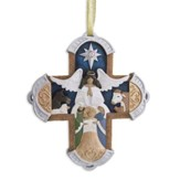 Legacy of Love Carved Cross Ornament
