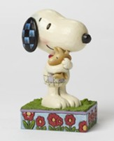 Peanuts Figurine, Snoopy and Woodstock Hug