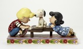 Peanuts Figurine, Schroeder At The Piano With Lucy And Snoopy