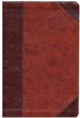 KJV Large Print UltraThin Reference Bible, Classic Mahogany Imitation Leather