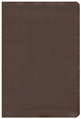 KJV Large Print UltraThin Reference Bible, Brown Genuine Cowhide, Thumb-Indexed